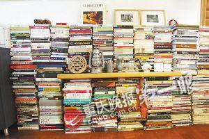 书籍和CD整齐地摆满了整个屋子