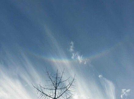 """北京天空出现倒挂彩虹 被誉为""""上帝之眼""""(图)"""