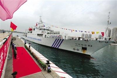 中国海监编队抵南沙中部执法 已行驶2000多海里