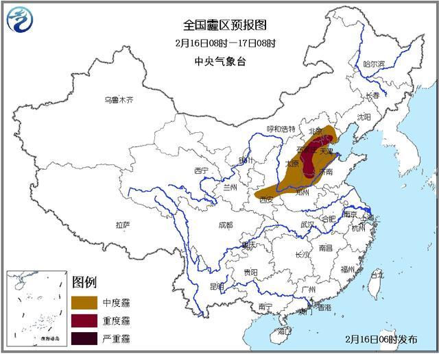 霾黄色预警:京津冀鲁豫等部分地区有重度霾