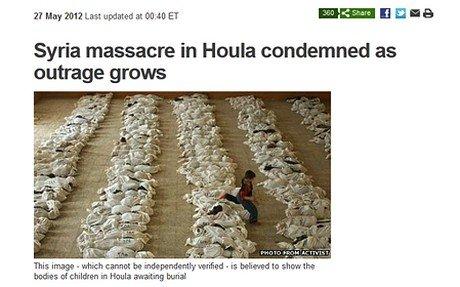BBC用伊拉克尸体照片诠释叙利亚屠杀惨状遭批[图]