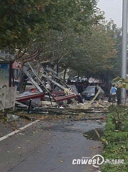 西安嘉天国际大厦门面房爆炸 陈宝根指挥救援