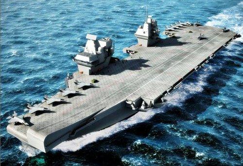 英国海军新航母将不搭载战机并于服役3年后出售