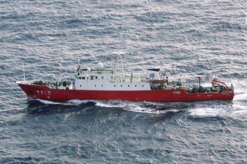 """资料图:中国""""科学3""""号海洋调查船9月26日在钓鱼岛海域。"""