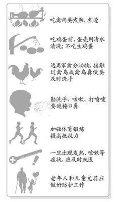 如何预防感染H7N9禽流感病毒