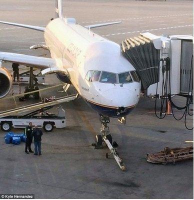 冰岛客机被闪电击穿机头现大洞 仍飞行8小时