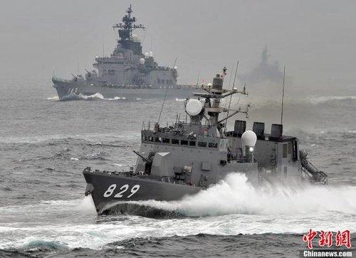 日本自卫队举行大规模阅舰式 野田再发争议言论