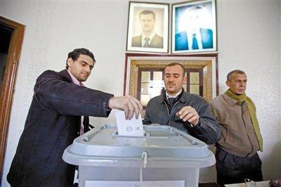 叙利亚新宪法草案高票通过 一党专制将变多党制