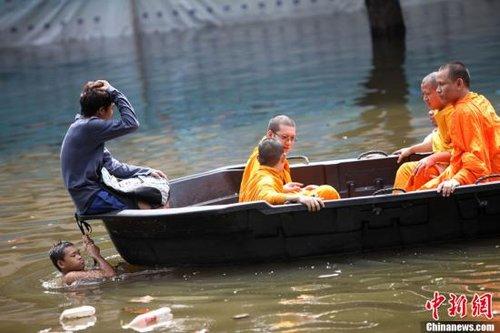 曼谷20%地区被淹 泰国政府劝百万居民疏散(图)