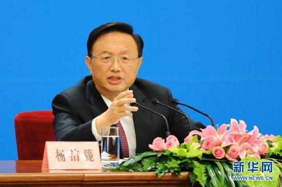 外交部部长杨洁篪答记者问。
