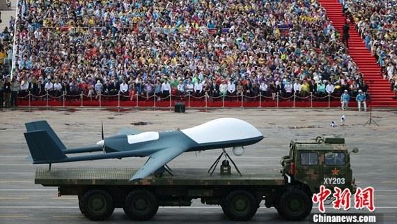 9·3阅兵:无人机方队接受检阅