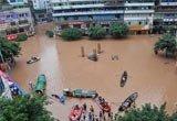 达州市渠县街道大部分被淹