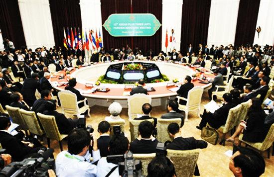 东盟提出南海问题六原则 未提中菲黄岩岛冲突