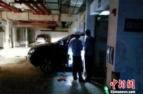 高清图—宁波奉化阳光茗都小区女子倒车将丈夫撞死又夹死自己