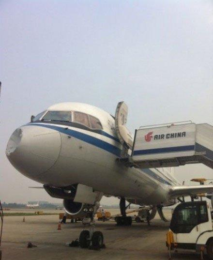 发生事故飞机