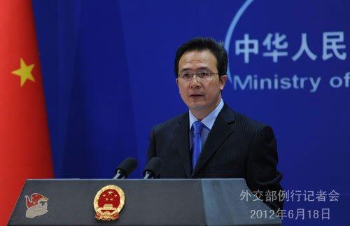 外交部:中方从未承诺从黄岩岛海域撤船