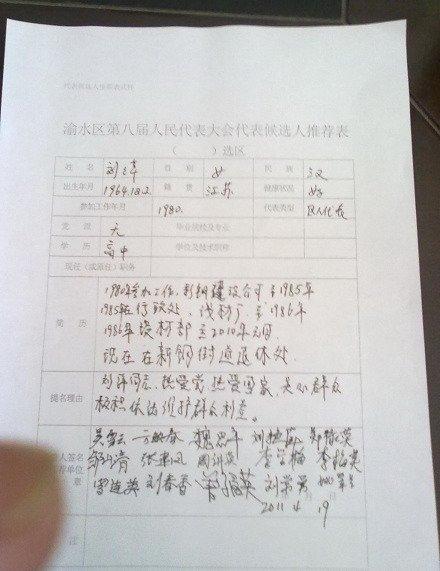 江西上访女工参选人大代表被拒 推荐人被警方约谈
