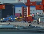 中国航母首次挂满旗