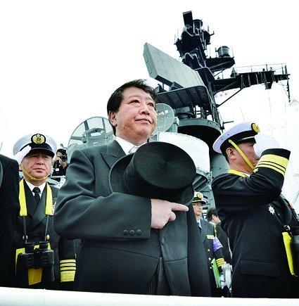 日本首相野田佳彦出席并训话
