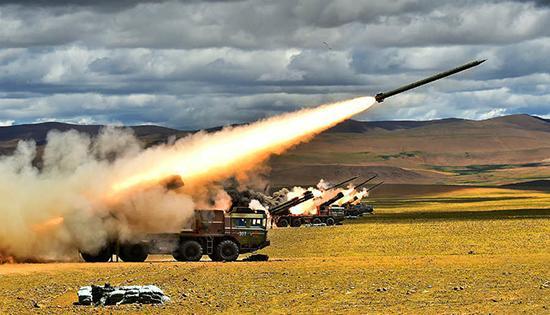 03式远程火箭炮_phl03式远程火箭炮齐射