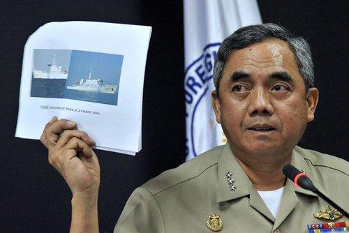 菲律宾军方否认向黄岩岛海域增派舰艇和飞机