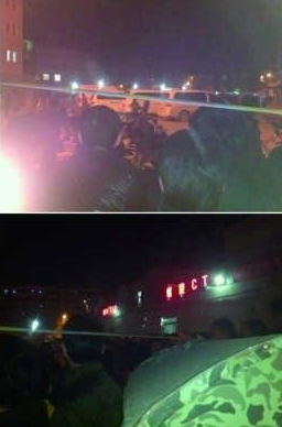 江苏丰县校车坠落1米多深水沟 书包鞋子漂水面
