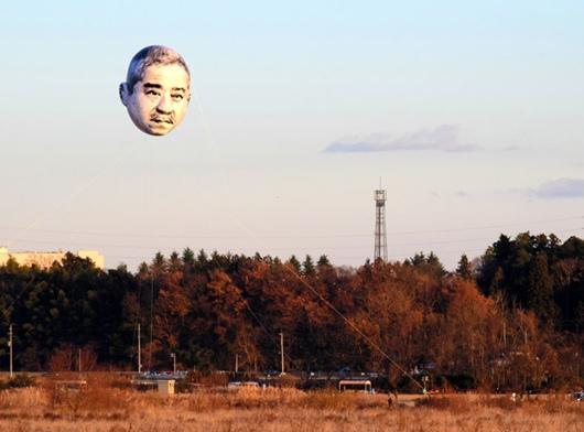 日本城市上空惊现人头 吓傻一众市民(图)