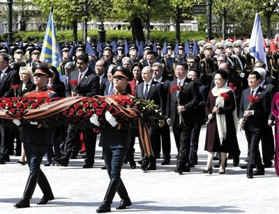 俄罗斯最大红场阅兵举行 普京致辞特别提到中国