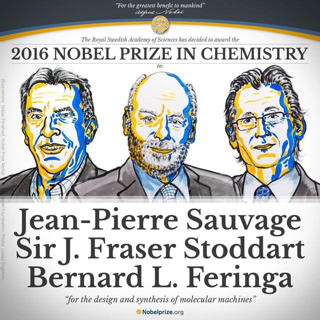 2016年诺贝尔化学奖揭晓 三位科学家分享奖项