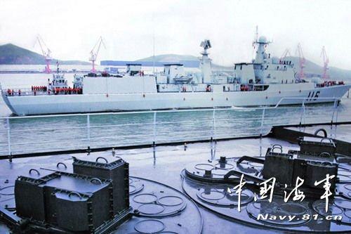 北海舰队115,116号联手成功抗击8枚超低空来袭导弹