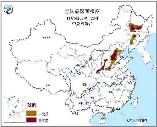 北京天津河北等地有中度霾午后逐渐减弱或消散