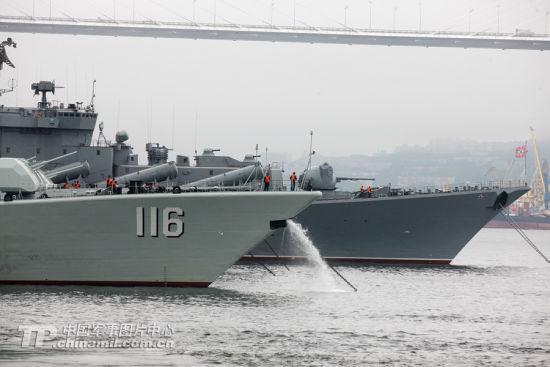 中俄海军将首在钓岛海域演习 俄方派出巡洋舰