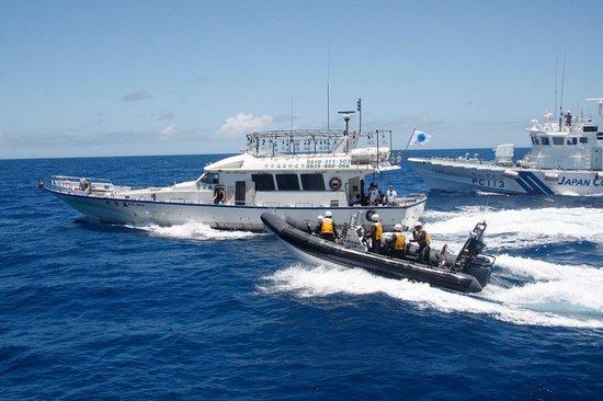 截中国两岸三地保钓船队图片