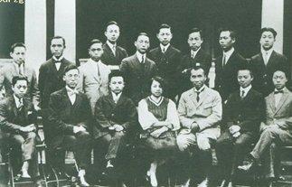 1923年,朱德(前右三)出席四川籍中国留德学生在哥廷根举行的欢迎会