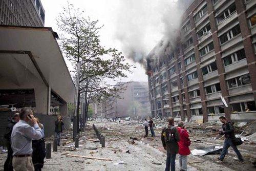 挪威首都奥斯陆先后遭遇爆炸和枪击事件 至少17人不幸遇难