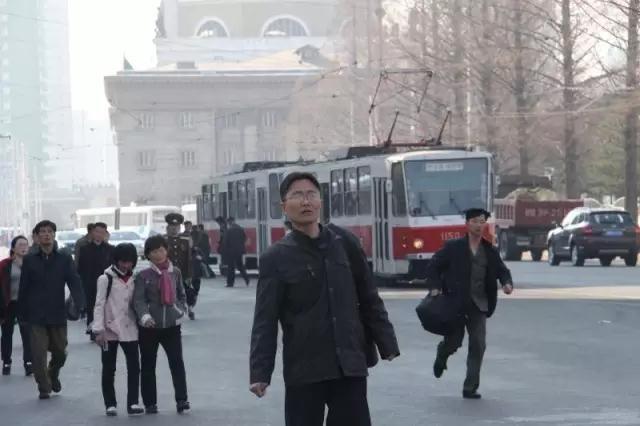 2017年4月初,平壤街景。