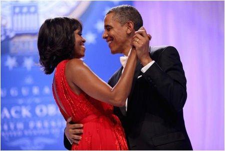 米歇尔(Michelle)和巴拉克·奥巴马(Barack Obama)