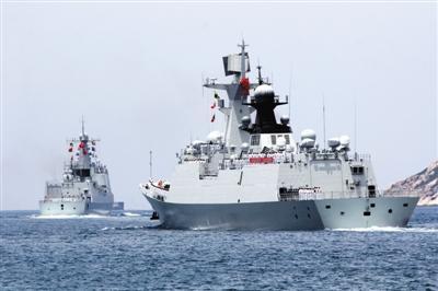 中国环太平洋军演舰队规模仅次美国 不参与实战