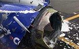 """美国航班在万米高空引擎爆炸,女乘客被""""吸出""""窗外"""