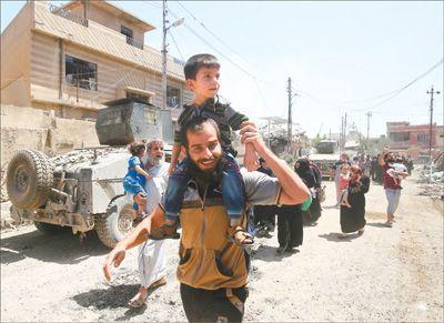 政府军解放摩苏尔西城近九成地区 伊拉克反恐取得重要进展