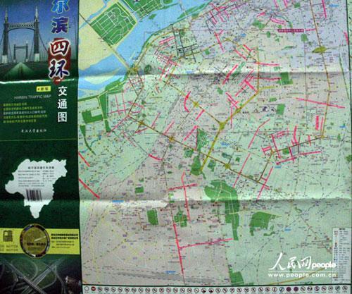 哈尔滨城管制手绘地图 为菜农标注允许经营街道
