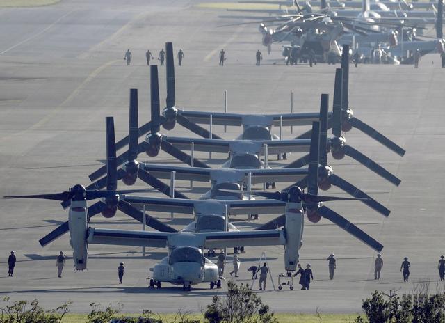 日本冲绳县通过决议 要求美军禁用直升机起降带