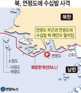 朝鲜海岸炮发射地点(韩联社)