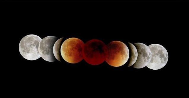 """""""血月""""现身西半球夜空 连环四月食拉开序幕"""
