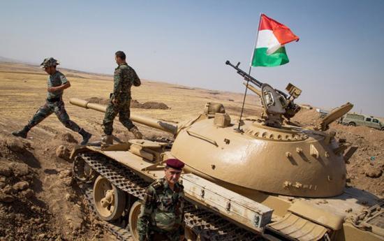 伊拉克的库尔德武装已拥有坦克等重装备。