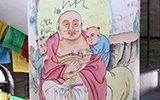 山东千年佛塔内壁遭游客涂鸦 刻满情话