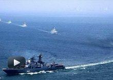 视频:中俄海军联合进行反潜演练