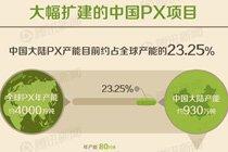 大幅扩建的中国PX项目