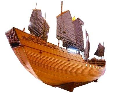 diy手工制作船模形木棒