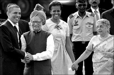 奥巴马访问印度签百亿美元民用和军用飞机大单